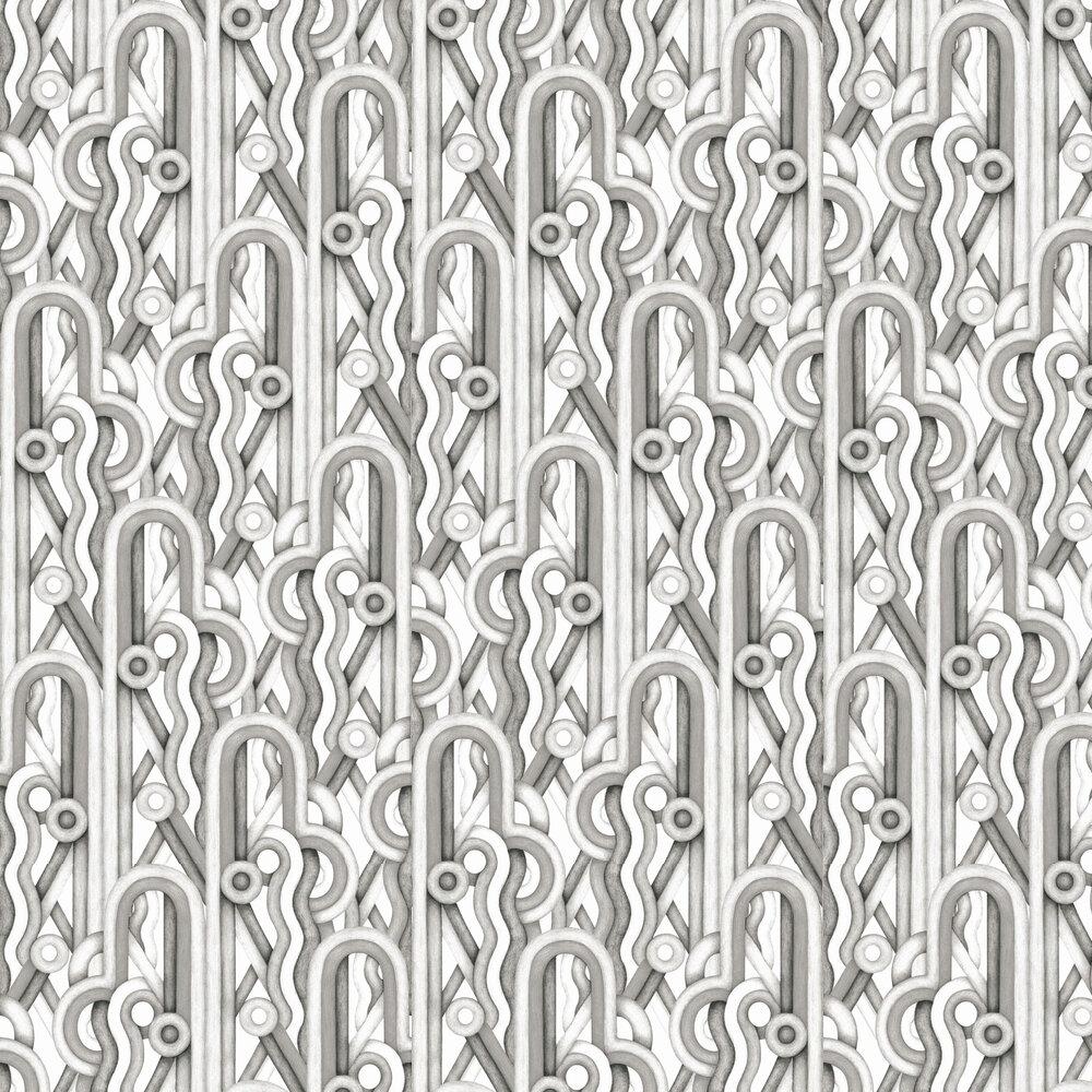 Caligrama Wallpaper - Black / White - by Tres Tintas