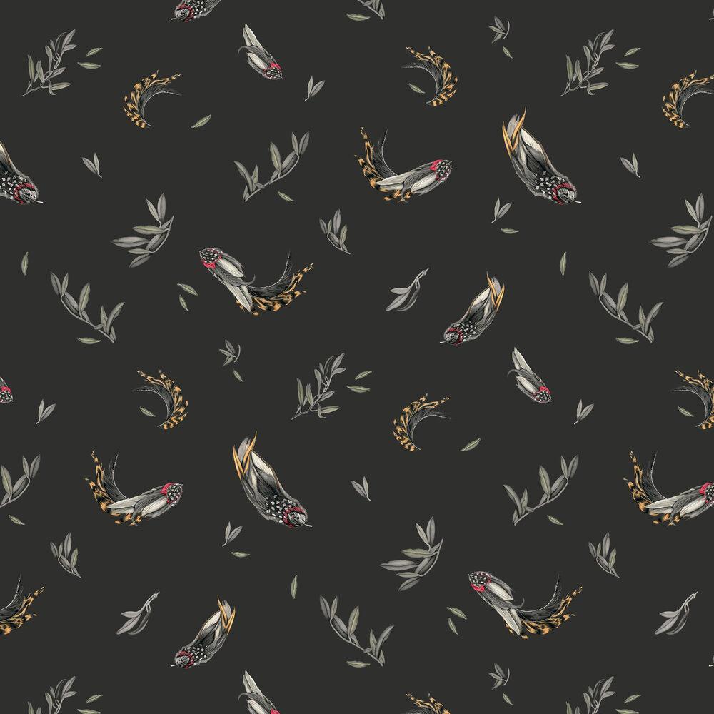 Verso Wallpaper - Black - by Tres Tintas