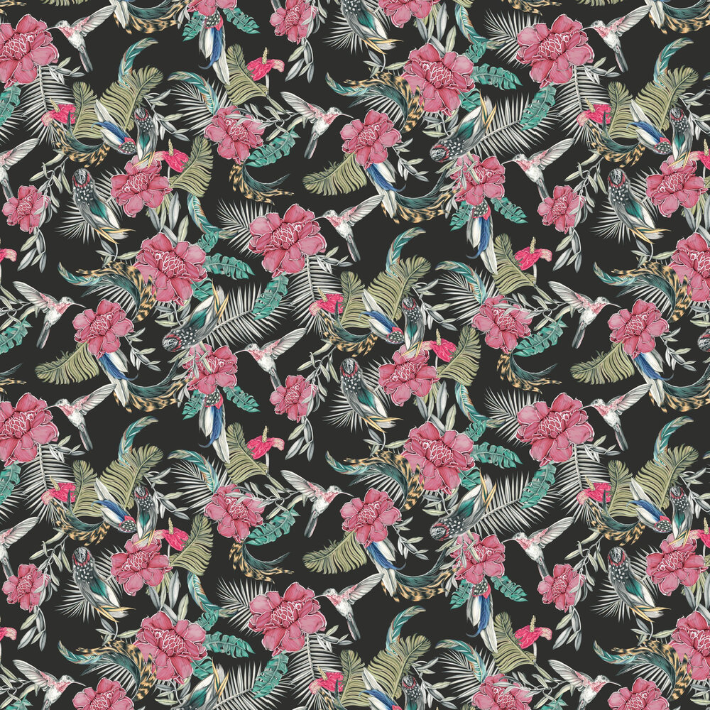 Lirica Wallpaper - Black - by Tres Tintas