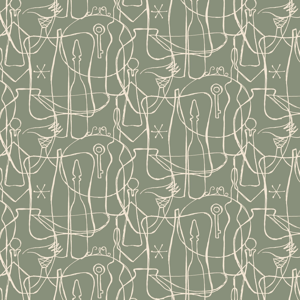 Atelier Wallpaper - Sage - by Albany