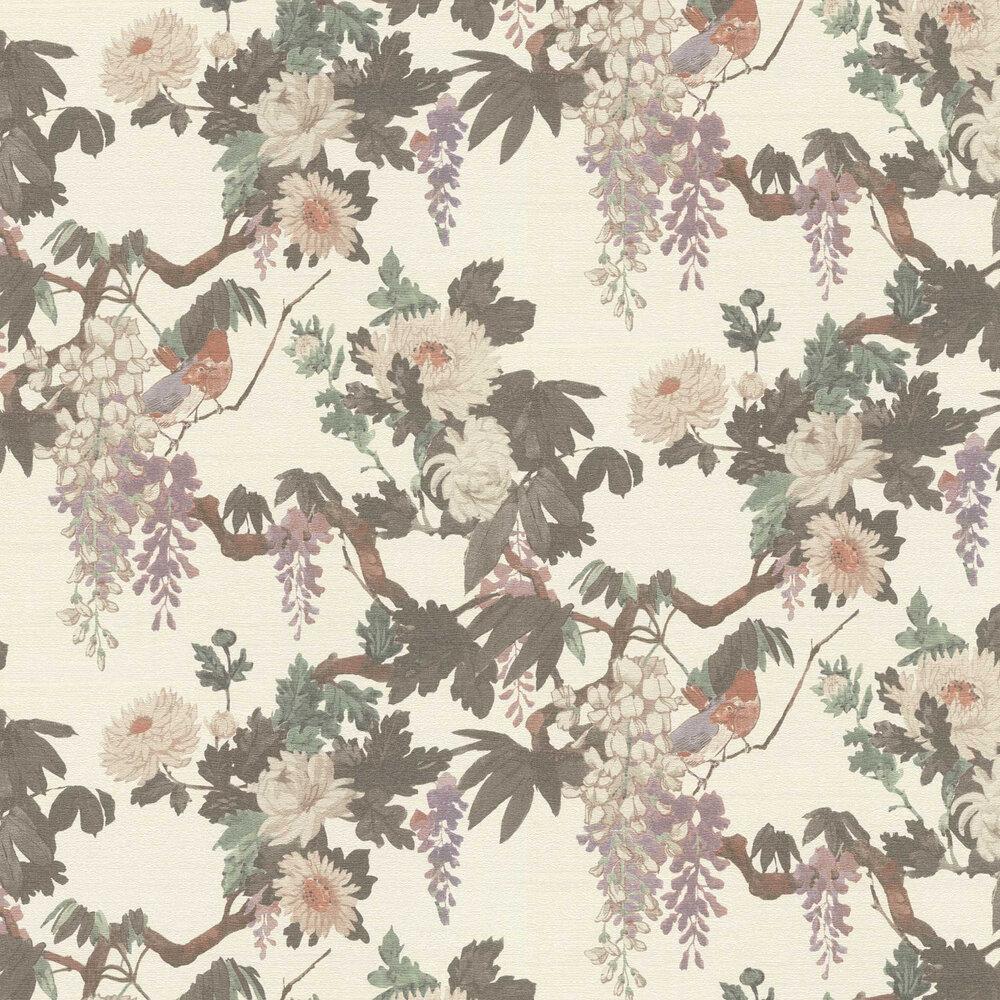 Robin Wallpaper - White - by Etro