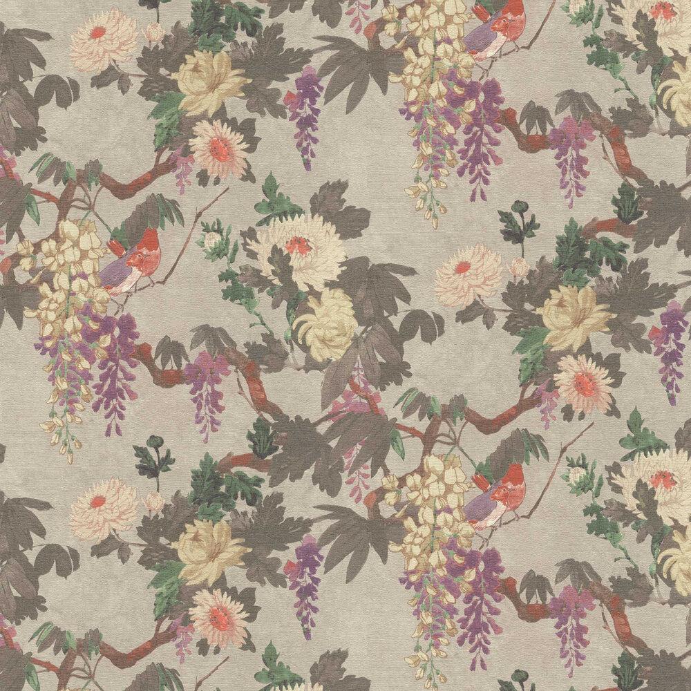 Robin Wallpaper - Grey - by Etro