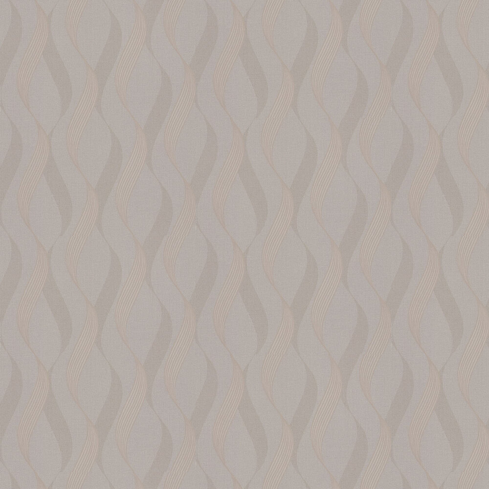 Luxe Ribbon Wallpaper - Mocha - by Arthouse