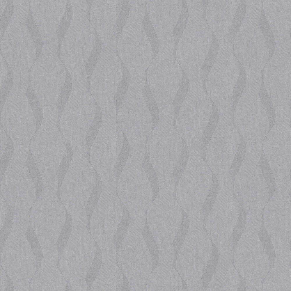 Luxe Ribbon Wallpaper - Charcoal / Silver - by Arthouse