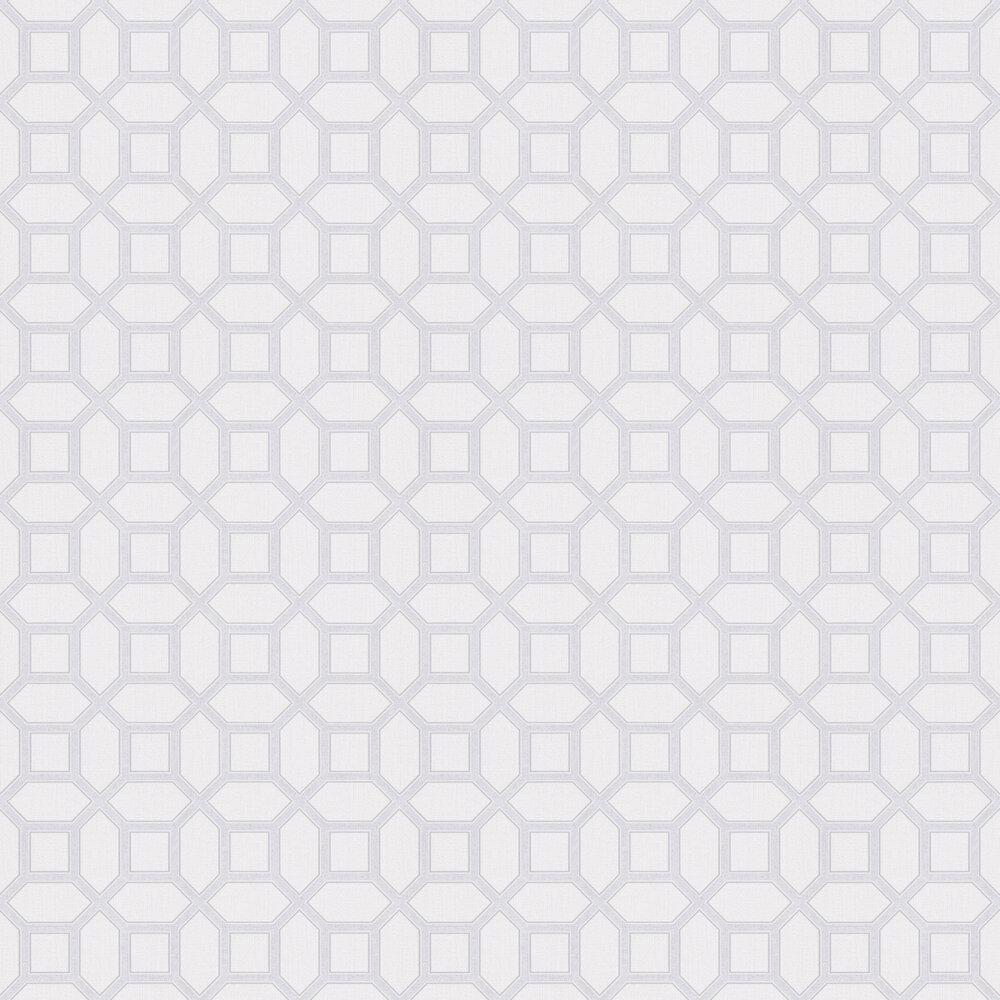 Luxe Origin Wallpaper - White / Silver - by Arthouse