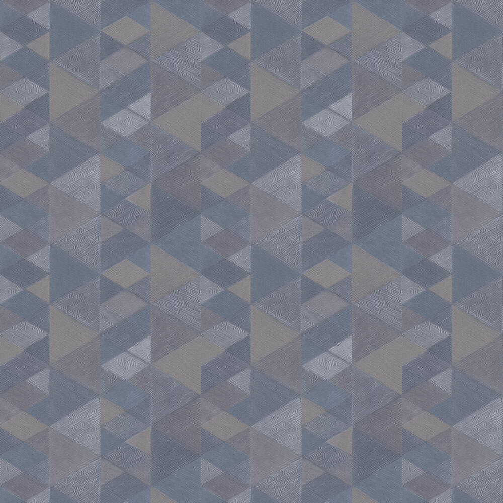 Luxe Triangle Wallpaper - Denim Blue - by Arthouse