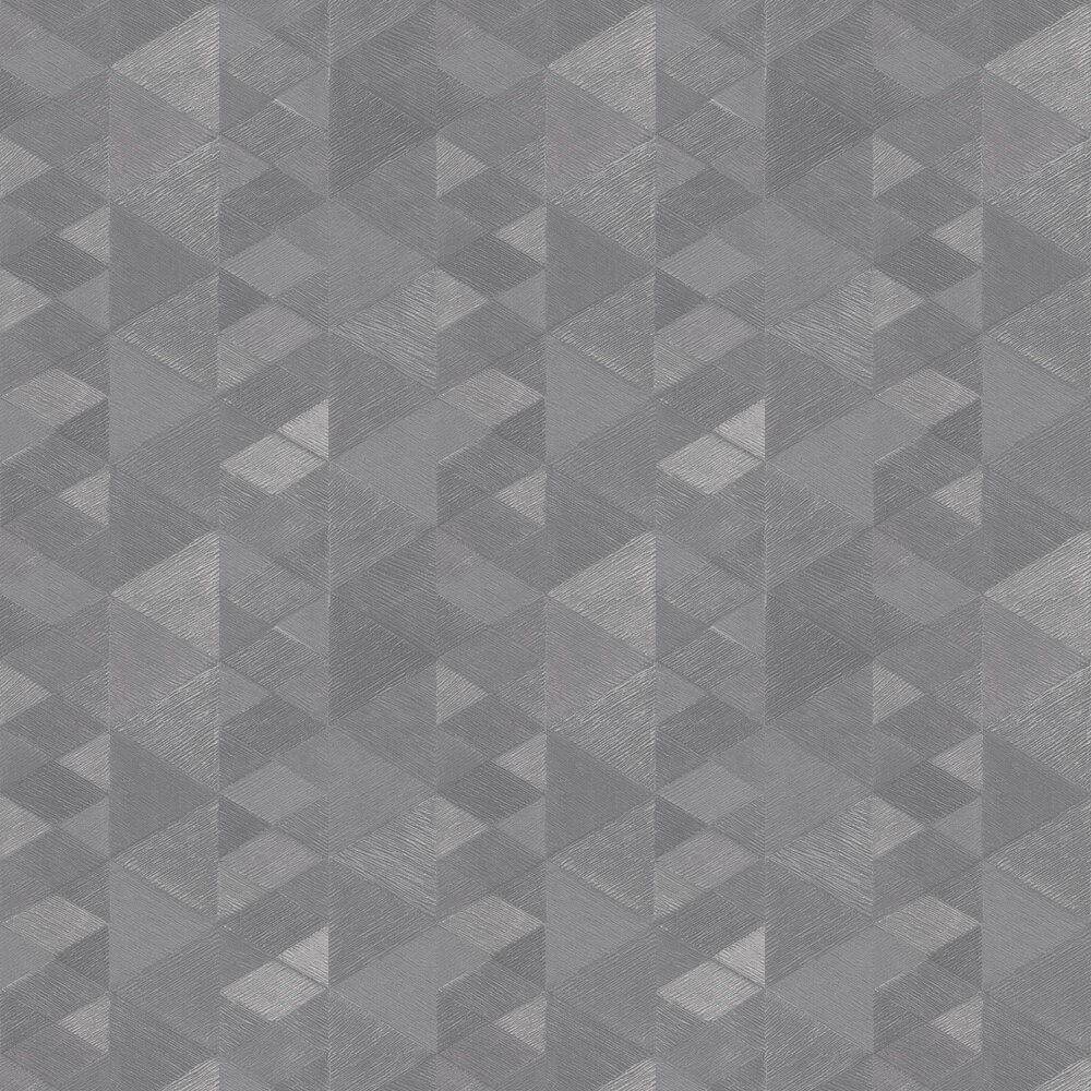 Luxe Triangle Wallpaper - Silver - by Arthouse
