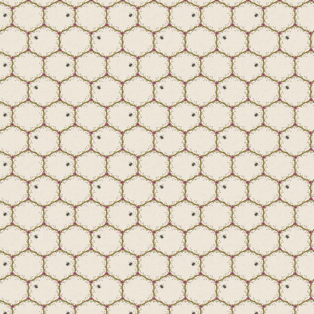 Honeycomb Wallpaper - Cream - by The Chateau by Angel Strawbridge