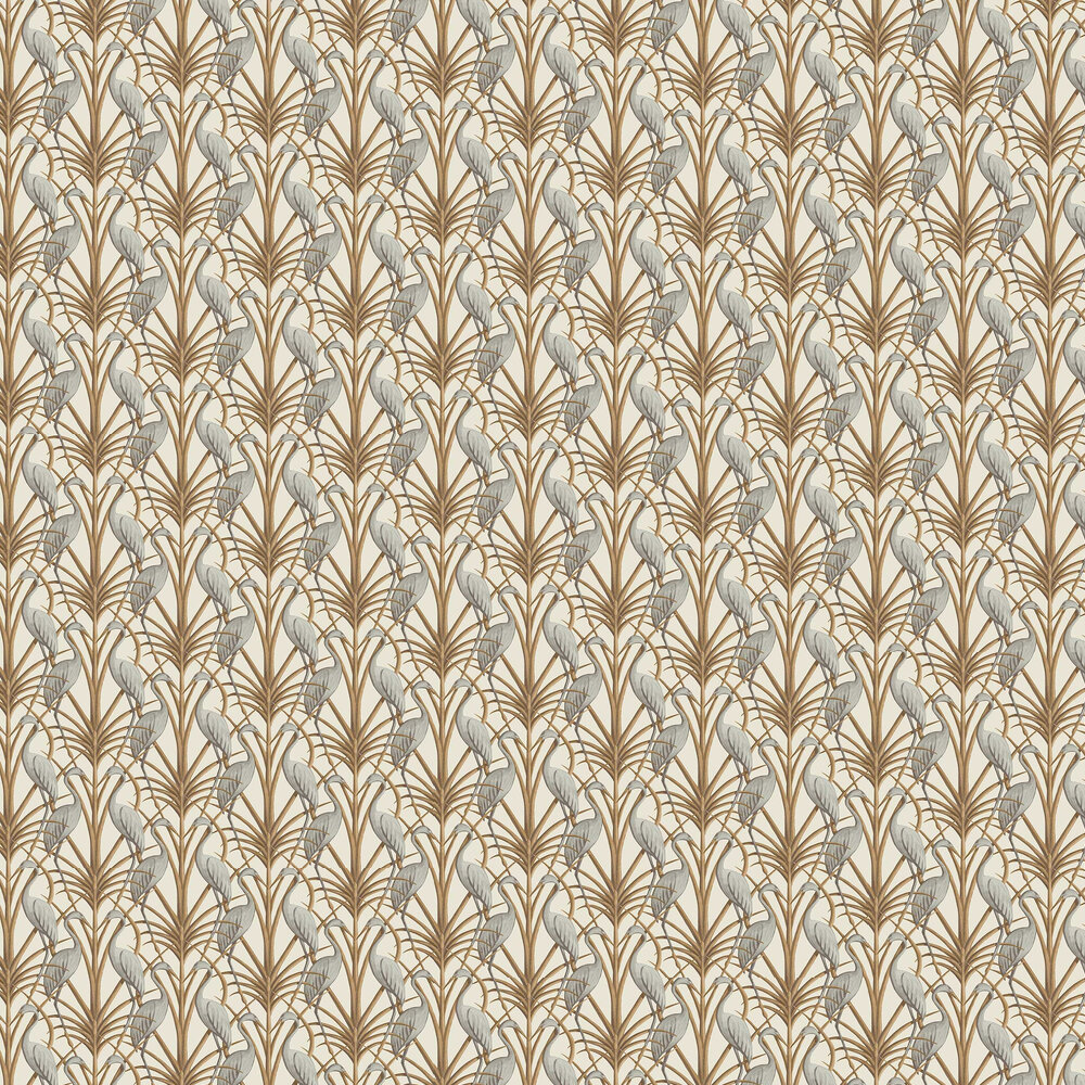 Nouveau Heron Wallpaper - Cream - by The Chateau by Angel Strawbridge