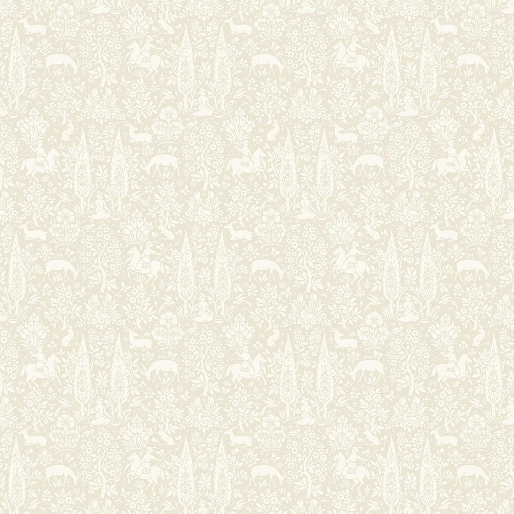 Woodland Wallpaper - Natural - by Crown