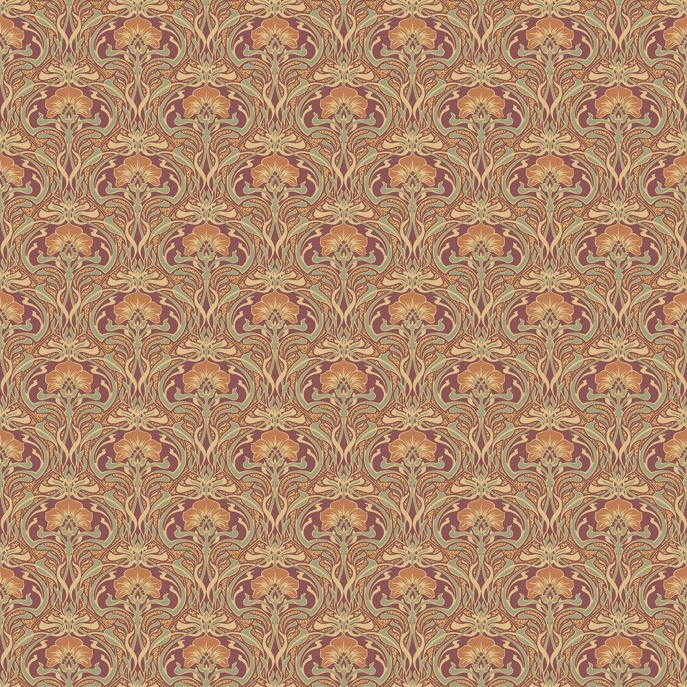 Flora Nouveau Wallpaper - Russet - by Crown
