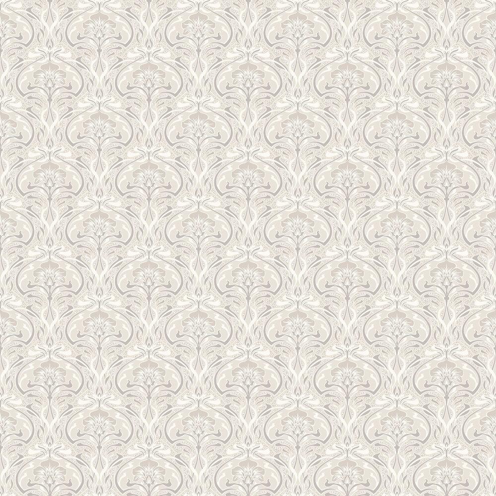Flora Nouveau Wallpaper - Natural - by Crown