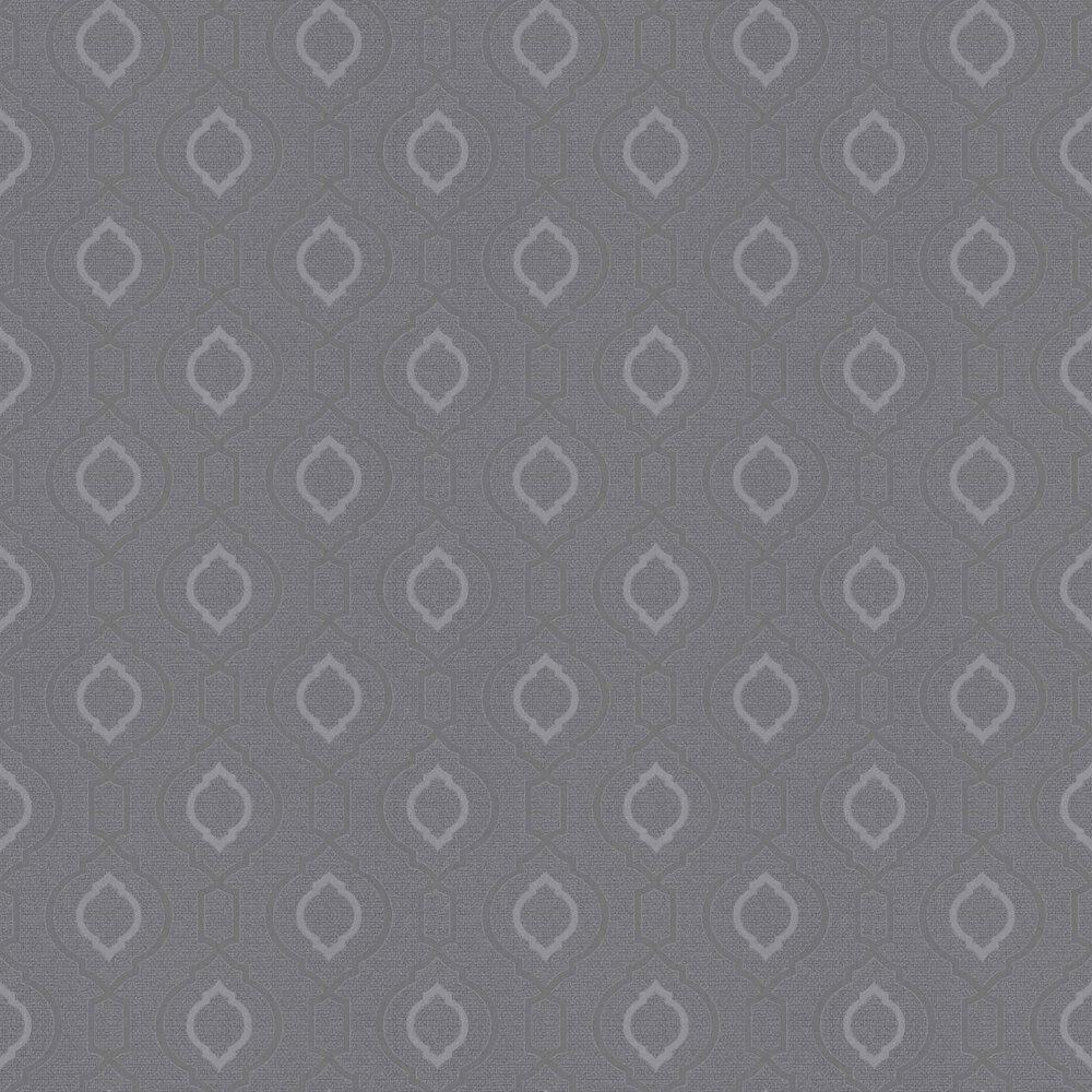 Calico Trellis Wallpaper - Gunmetal - by Arthouse
