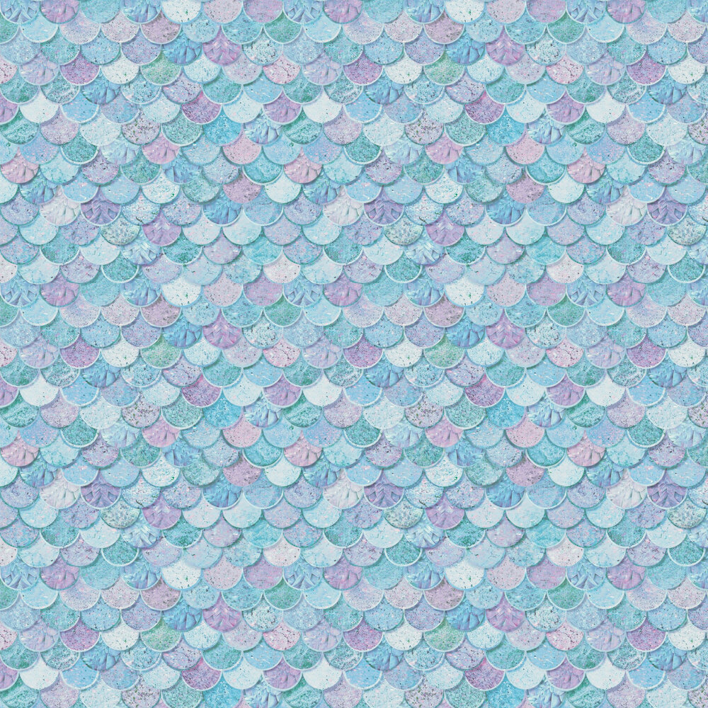 Mermazing Scales Wallpaper - Ice Blue - by Arthouse