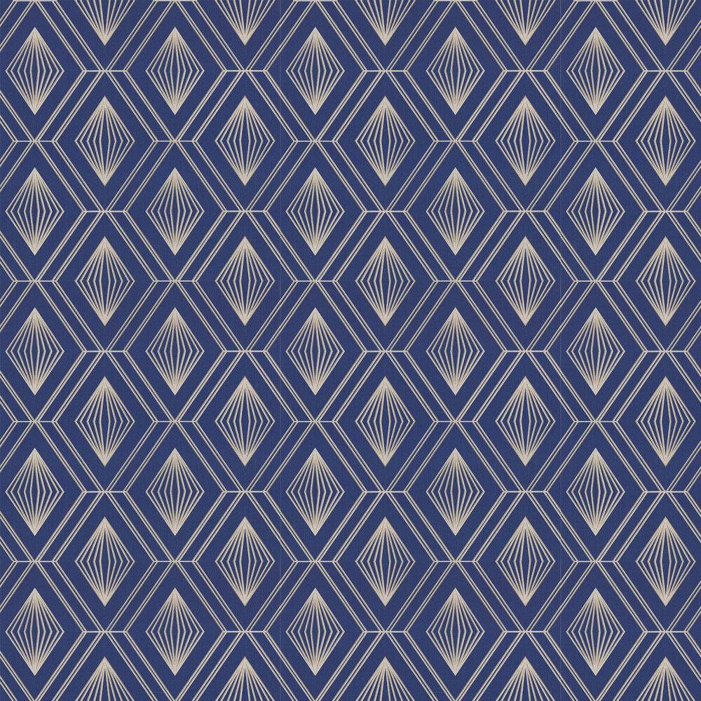 Glitter Diamond Wallpaper - Navy / Gold - by Arthouse