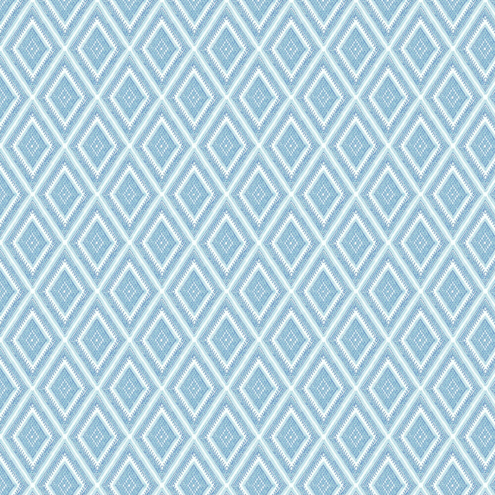 Zaya Wallpaper - Blue  - by A Street Prints