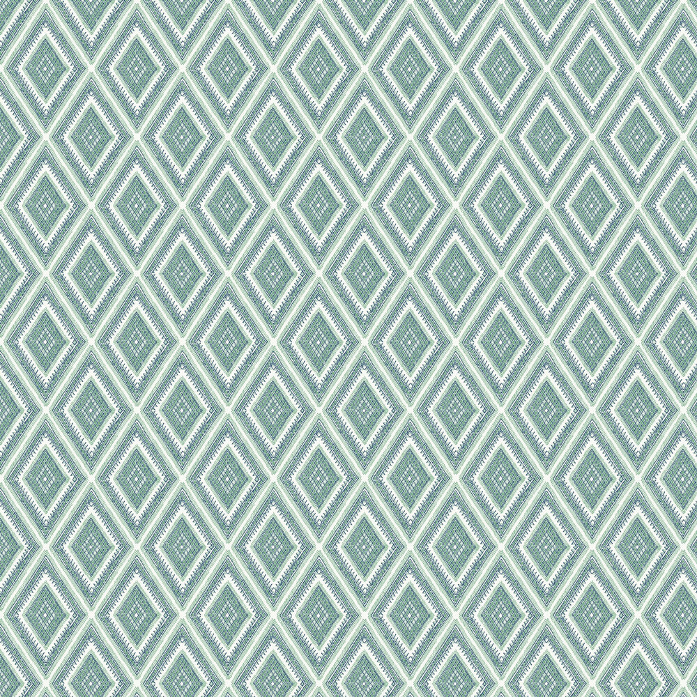 Zaya Wallpaper - Green / Blue  - by A Street Prints