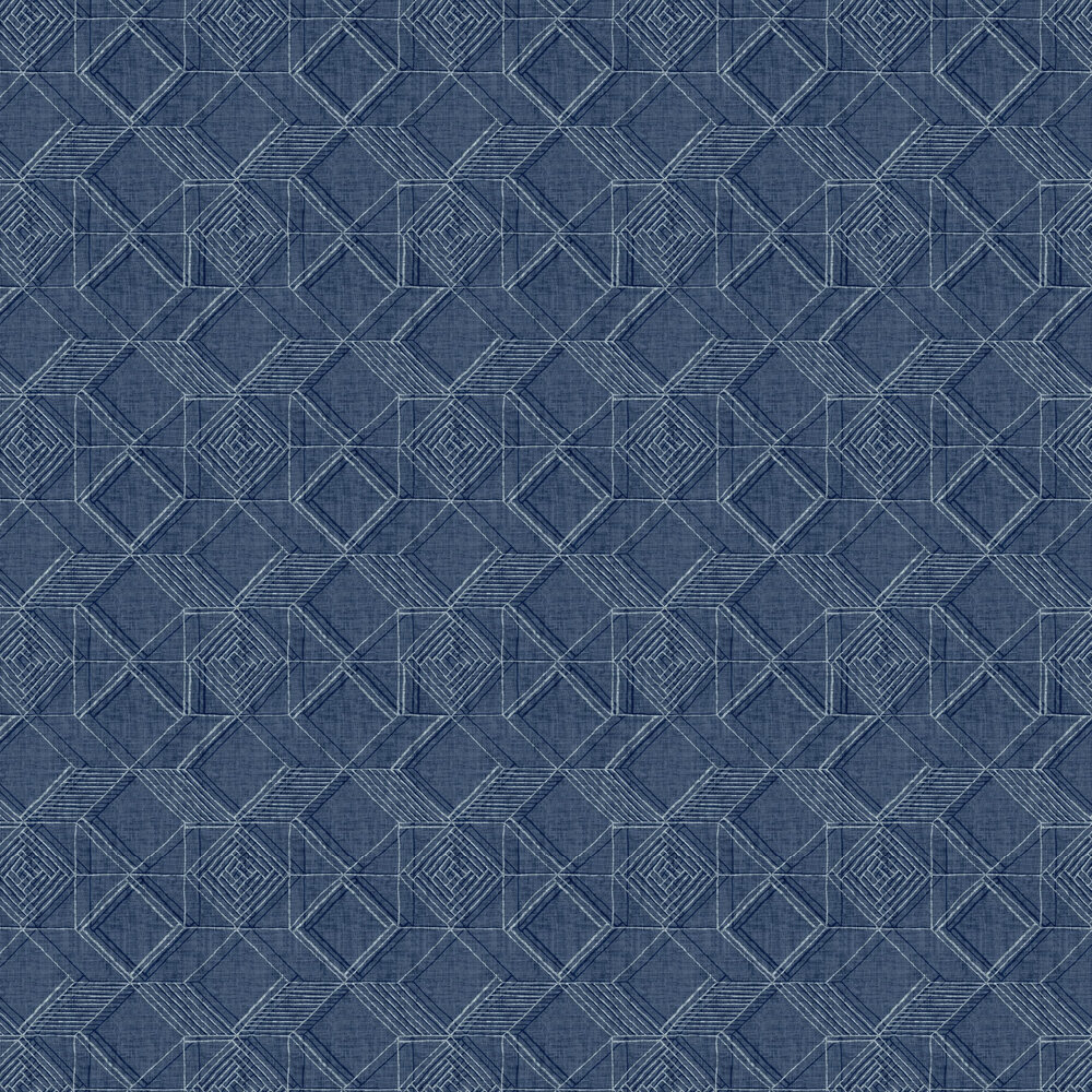 Moki  Wallpaper - Blue  - by A Street Prints