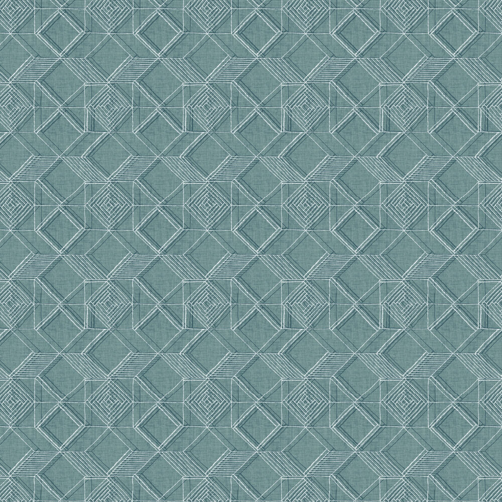 Moki  Wallpaper - Teal  - by A Street Prints