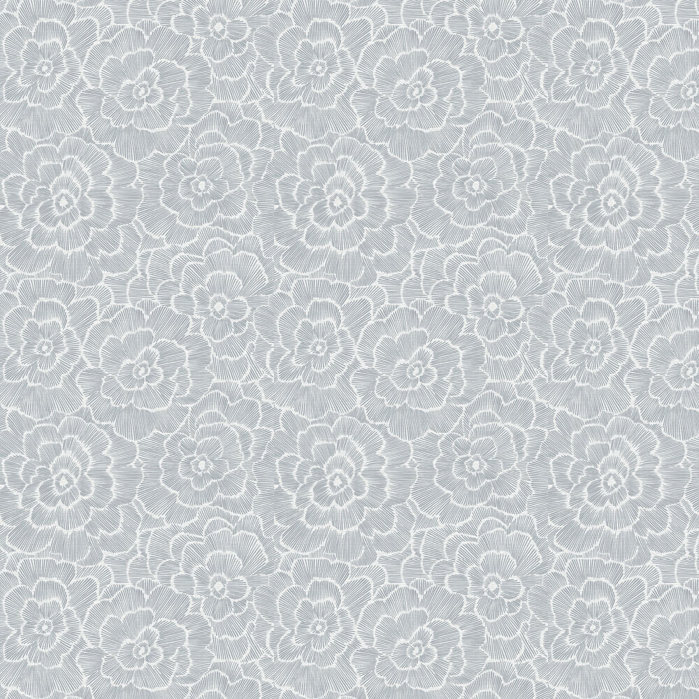 Periwinkle Wallpaper - Dark Grey  - by A Street Prints