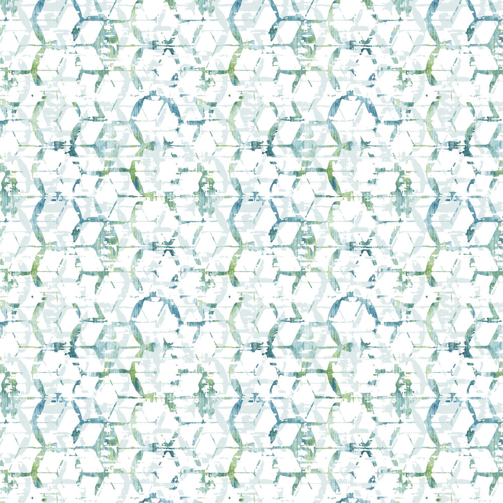 Augustine  Wallpaper - Teal Green  - by A Street Prints