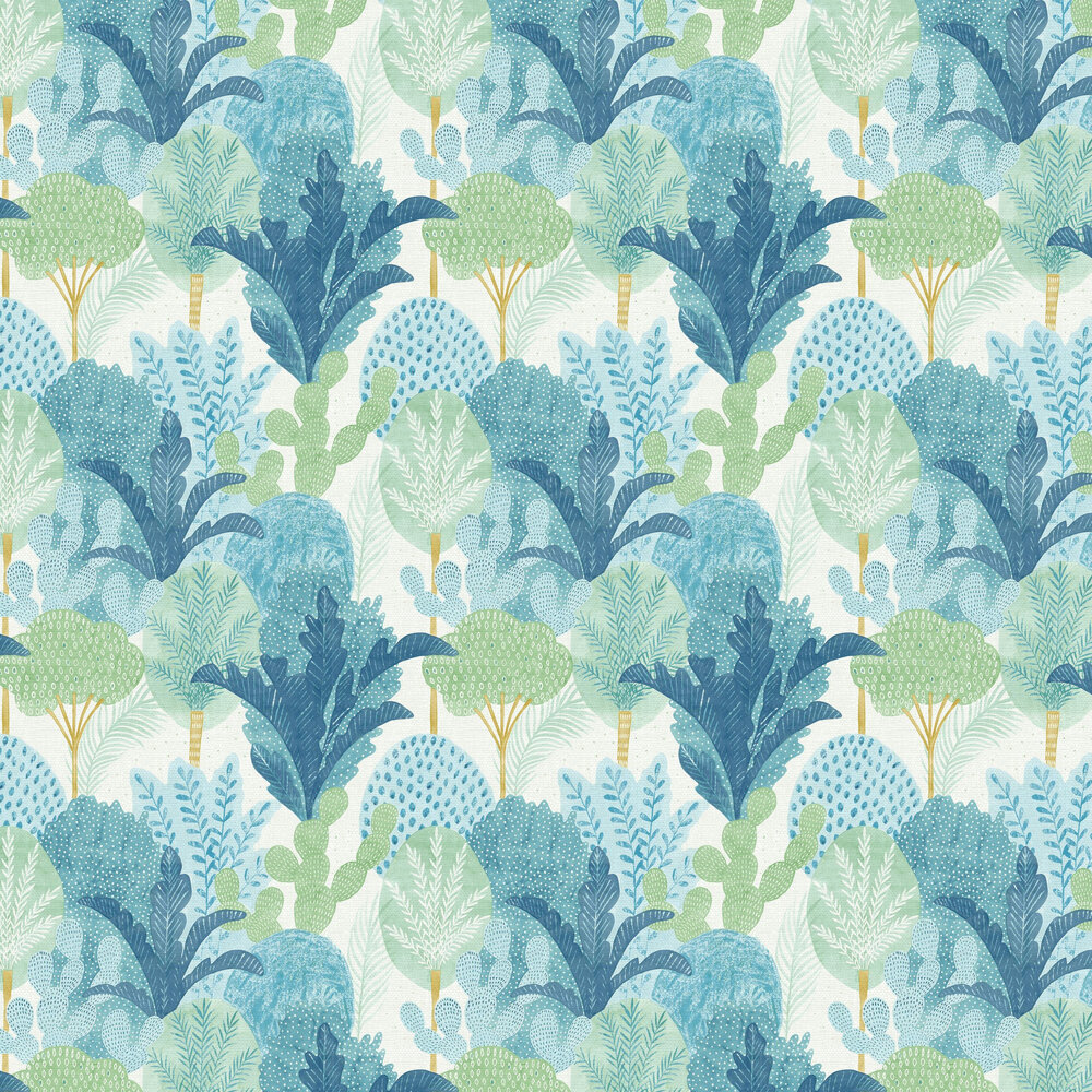 Ari  Wallpaper - Blue / Green  - by A Street Prints