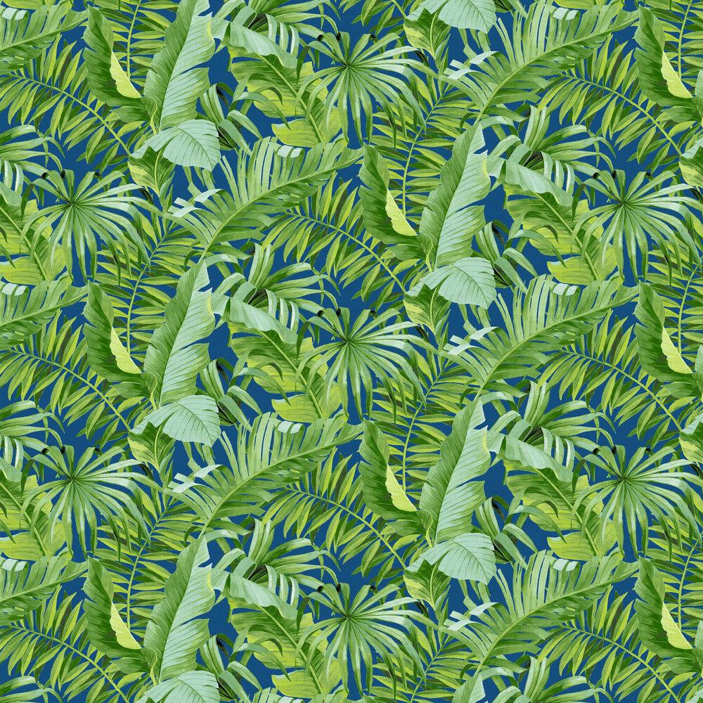 Alfresco  Wallpaper - Green / Navy  - by A Street Prints