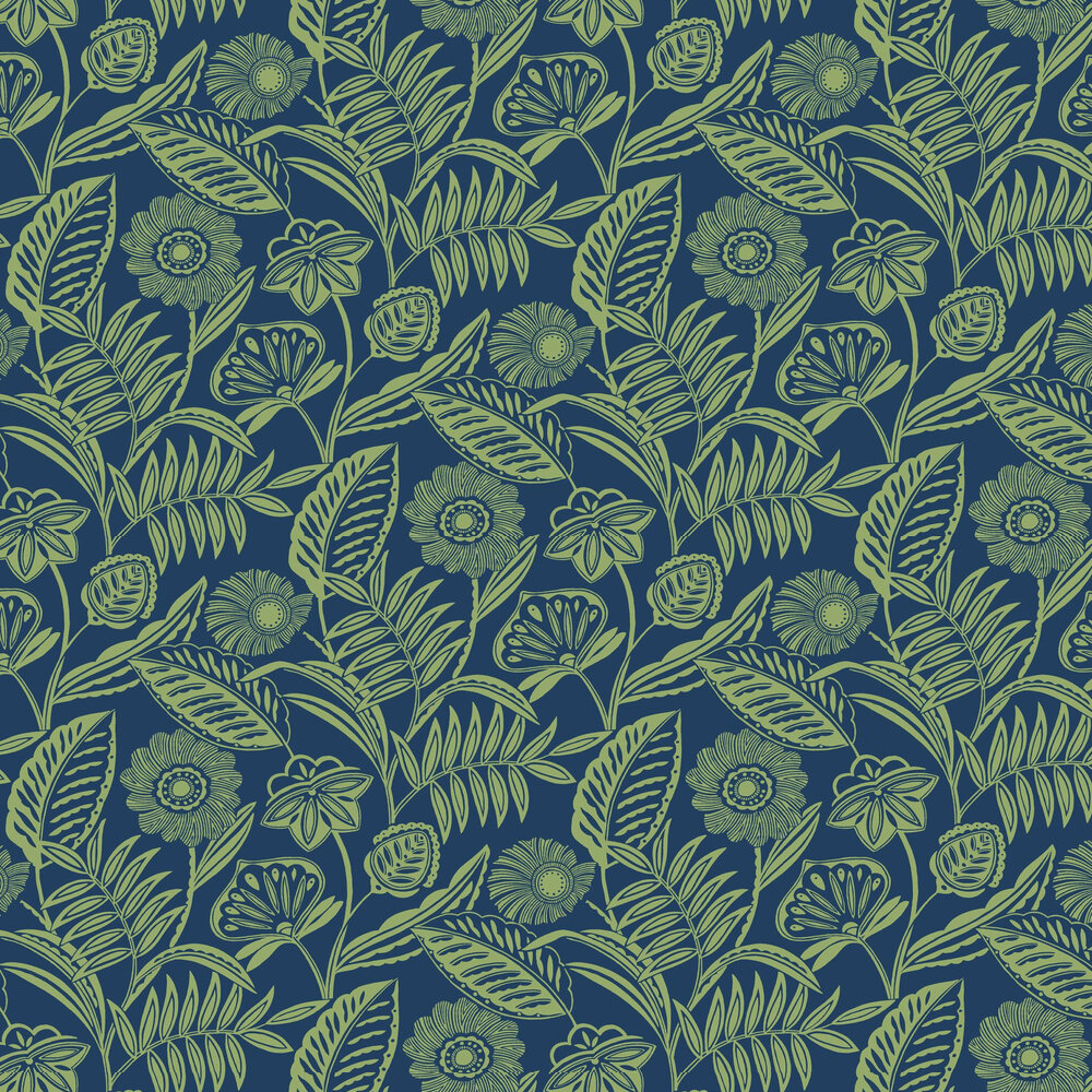 Alma Wallpaper - Blue / Green - by A Street Prints