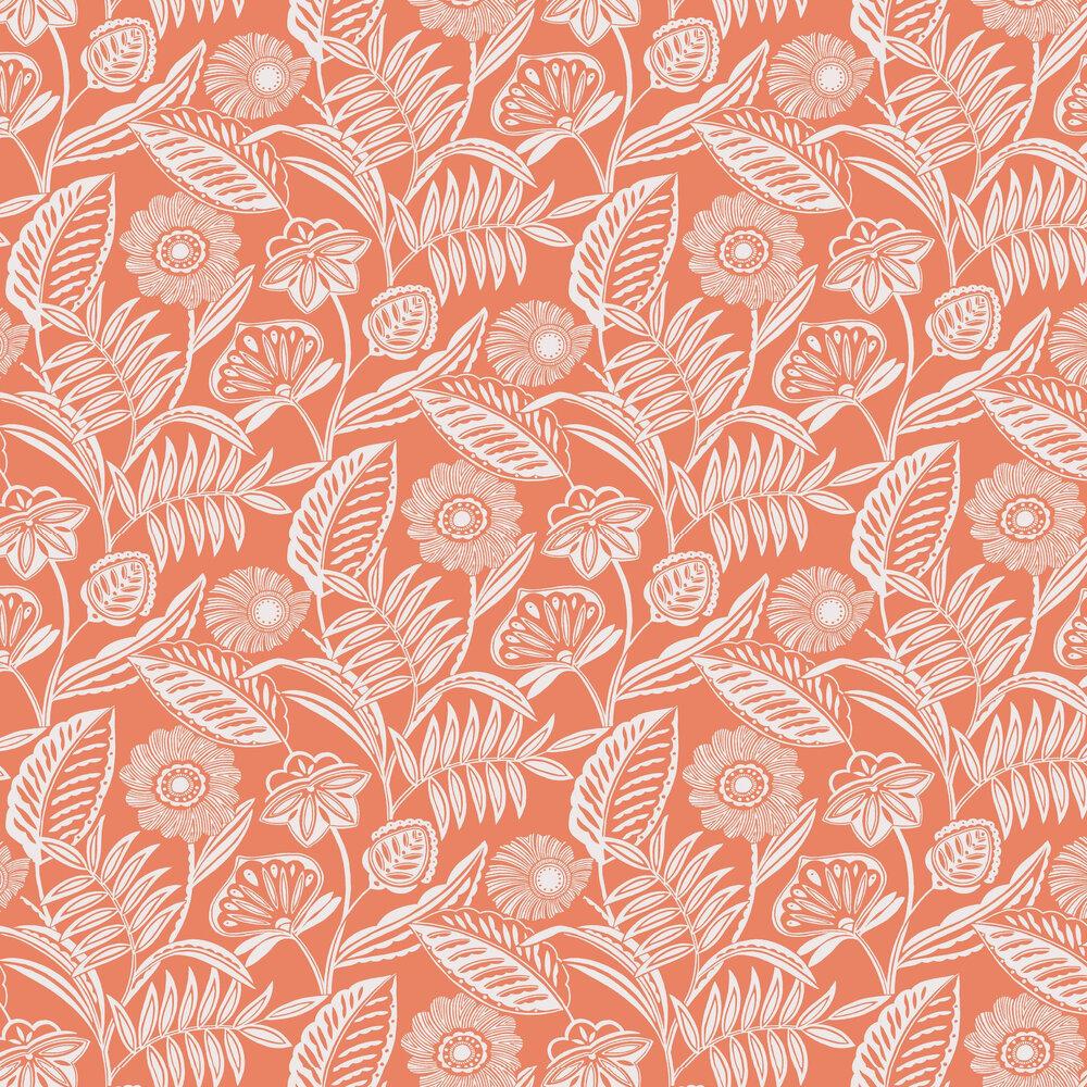 Alma Wallpaper - Coral - by A Street Prints