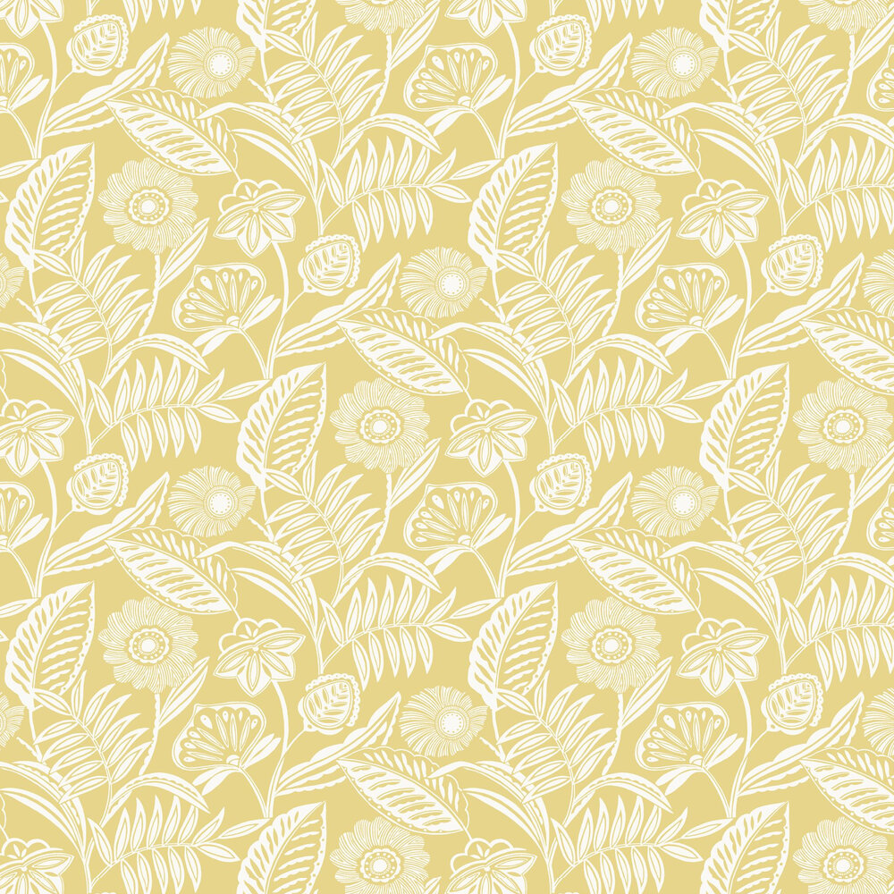 Alma Wallpaper - Yellow - by A Street Prints