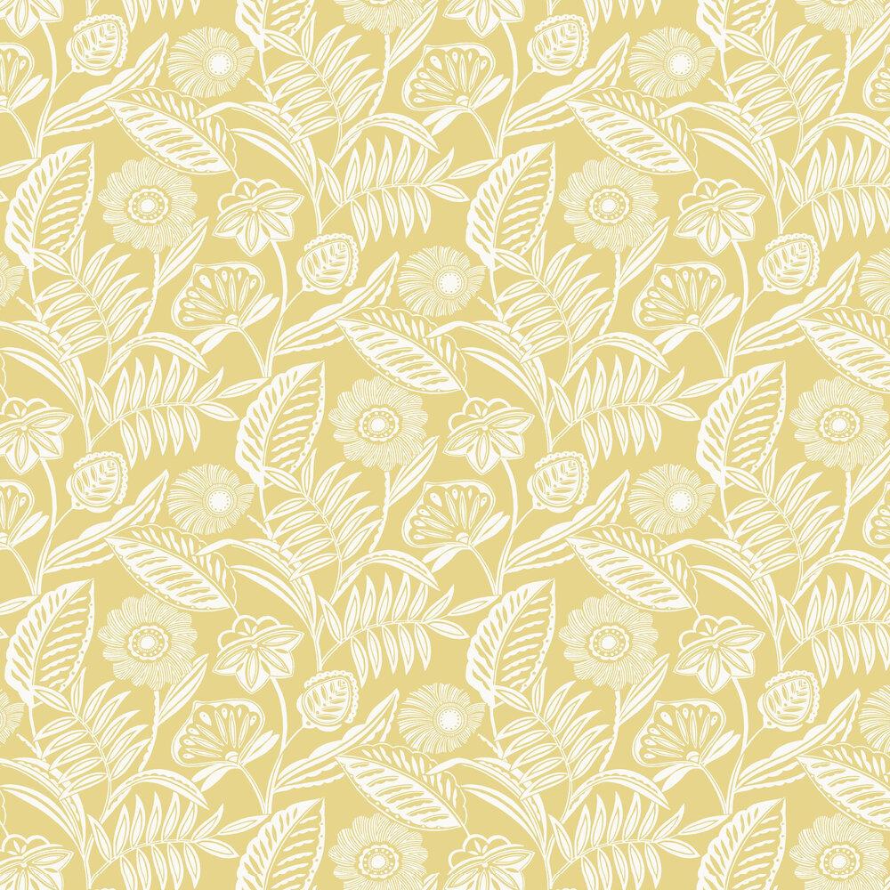 Alma Wallpaper - Yellow - by A Street Prints