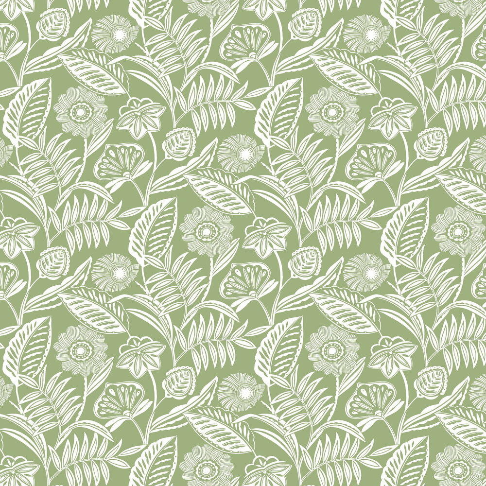 Alma Wallpaper - Green - by A Street Prints
