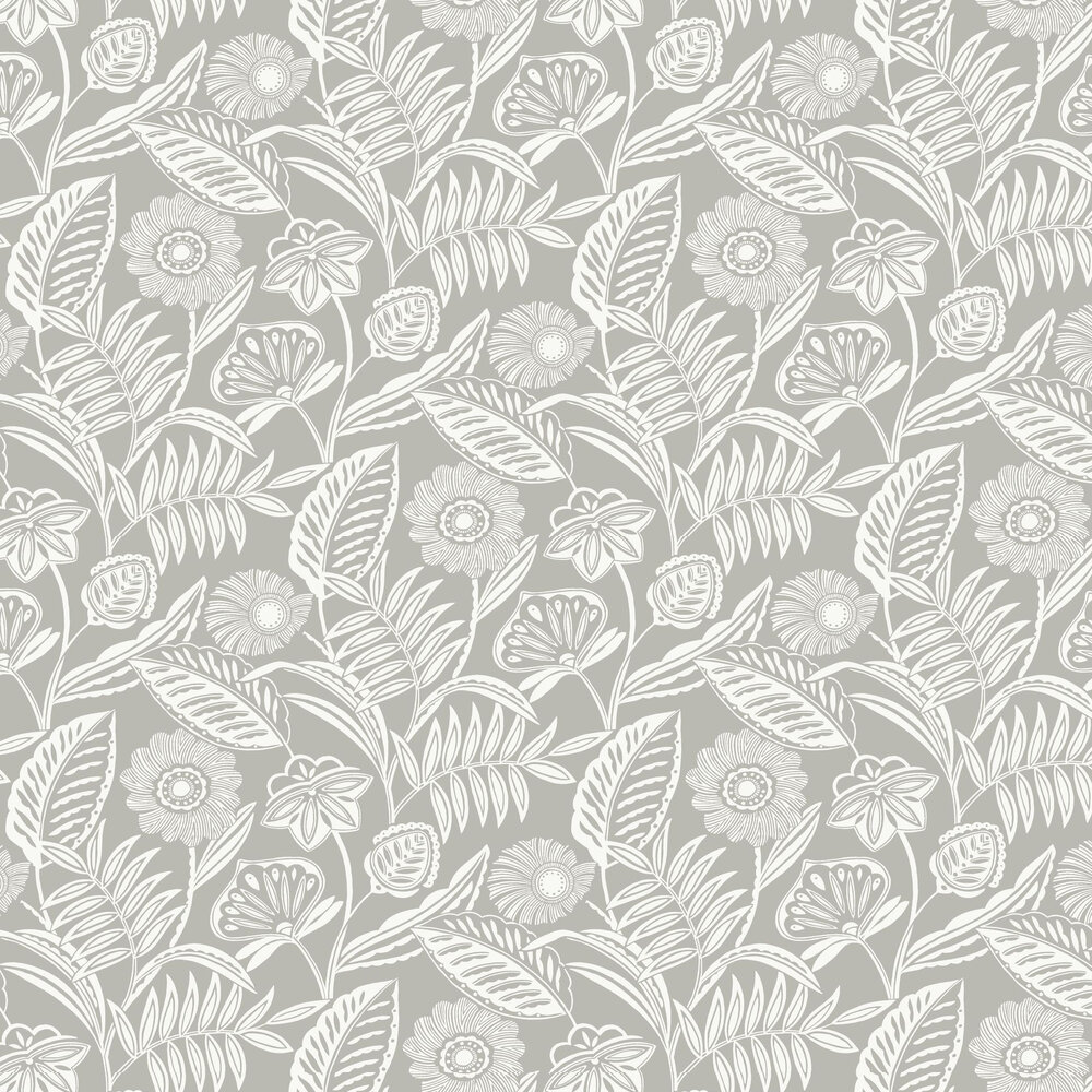 Alma Wallpaper - Light Grey - by A Street Prints