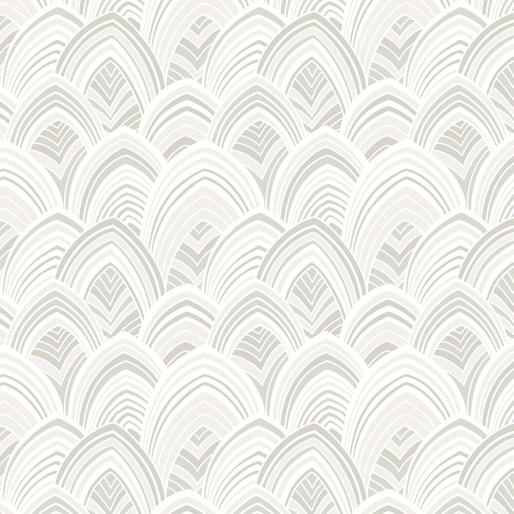 Cabarita Flock Wallpaper - Natural - by A Street Prints