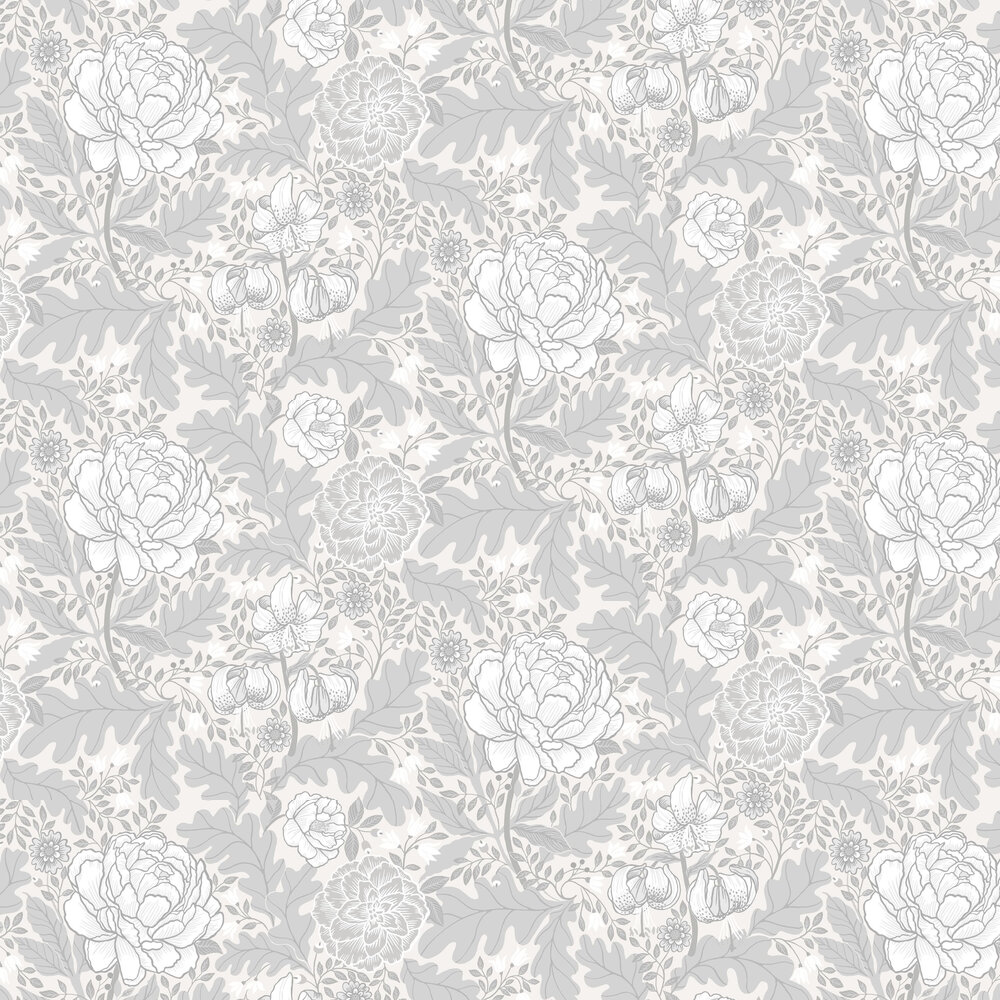Camile Wallpaper - Grey - by Galerie