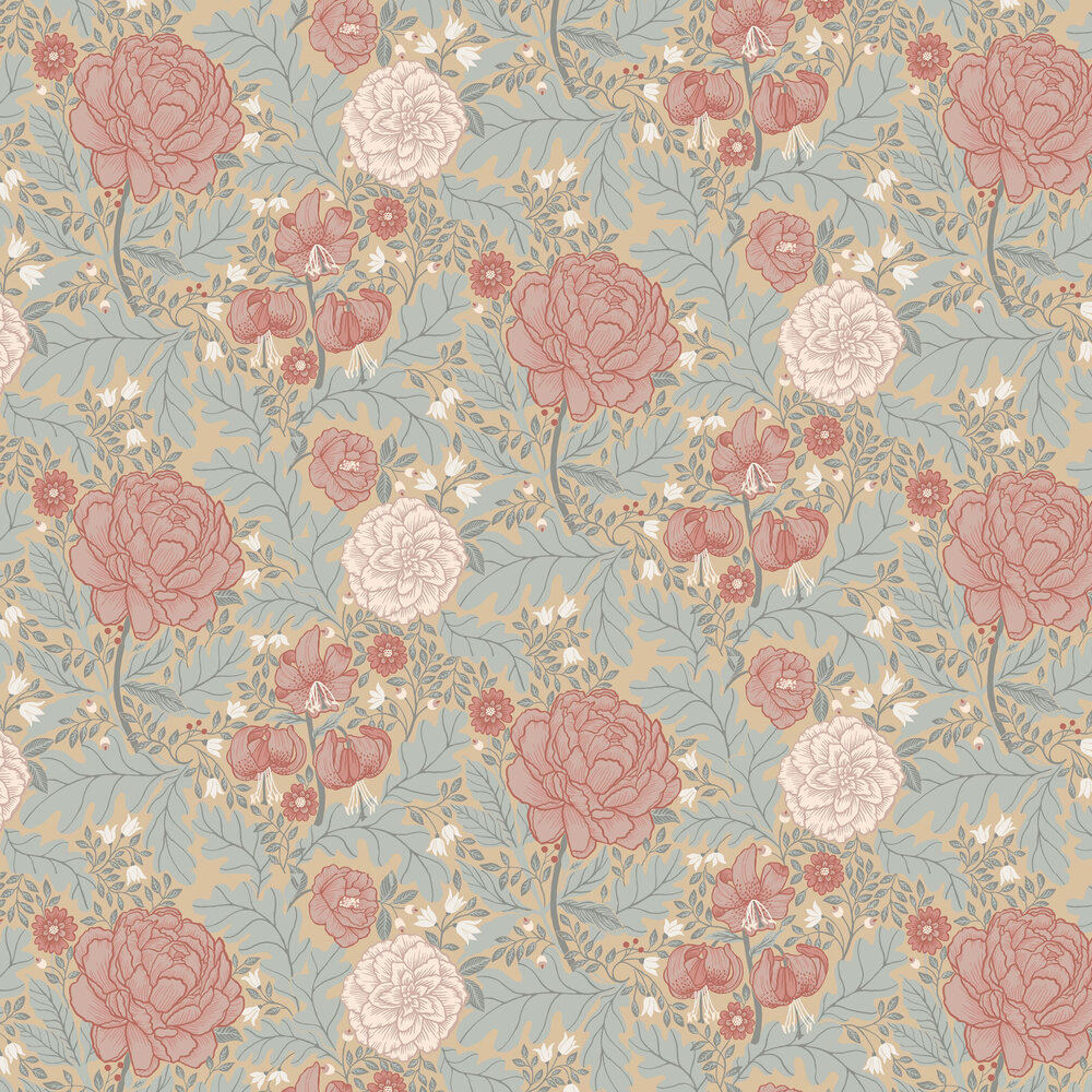 Camile Wallpaper - Pink / Grey - by Galerie