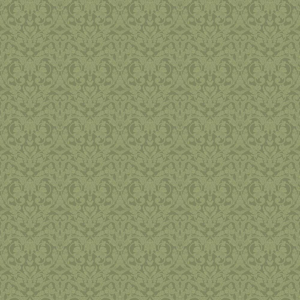 Rosali Wallpaper - Green - by Galerie