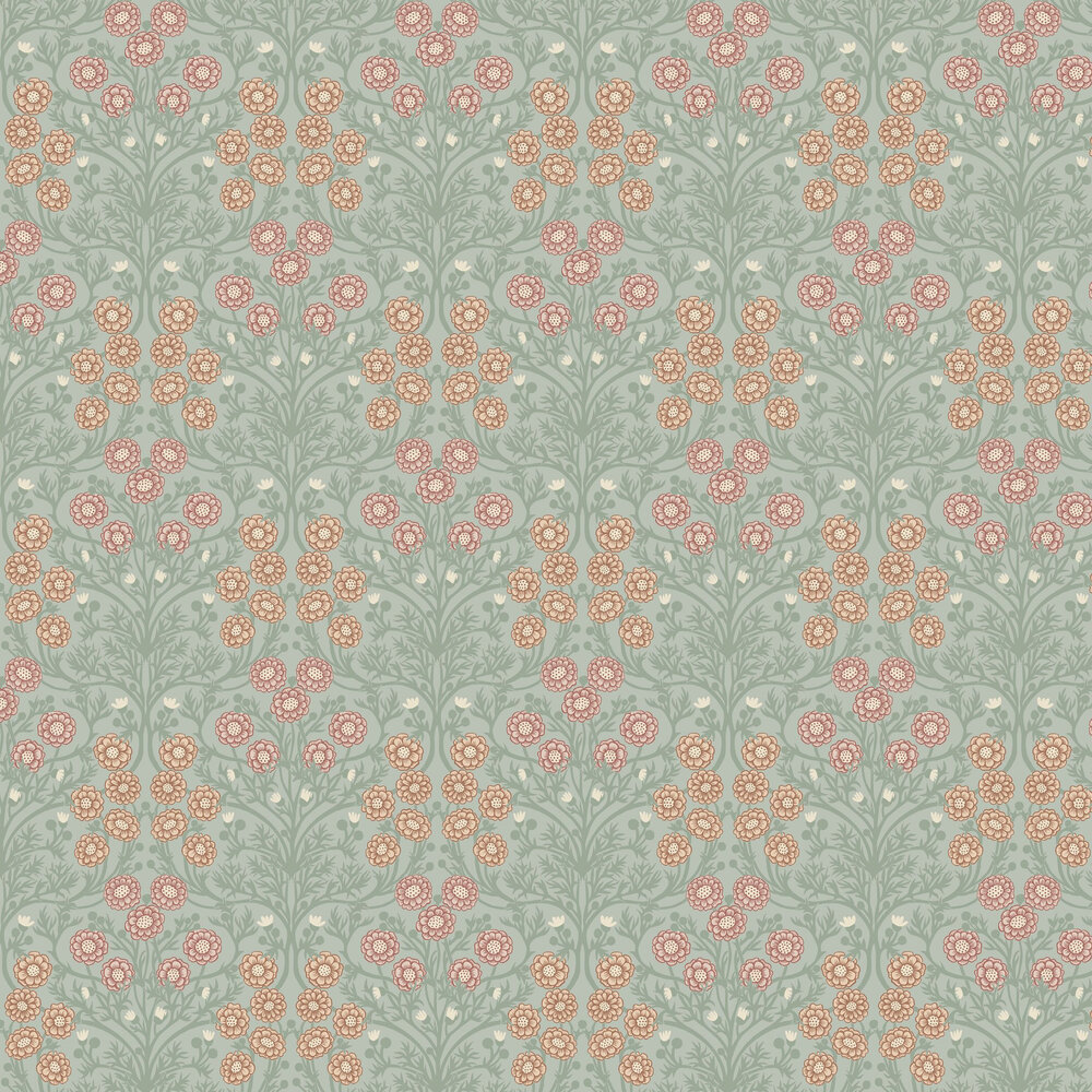 Bellis Wallpaper - Light Green - by Galerie