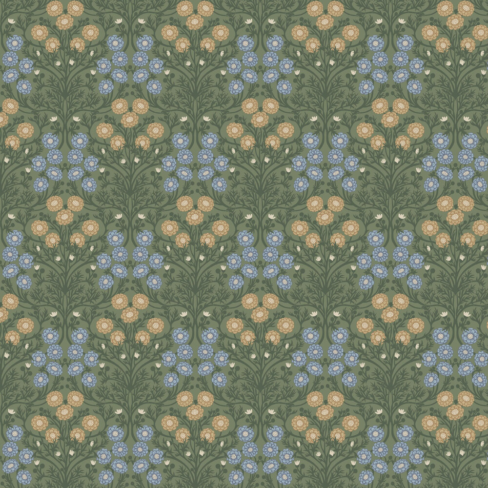 Bellis Wallpaper - Green - by Galerie