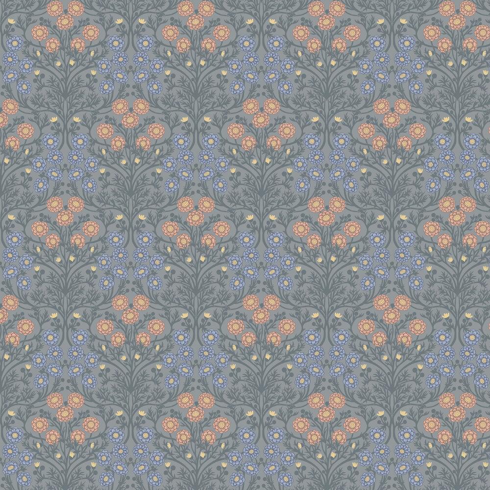 Bellis Wallpaper - Grey - by Galerie
