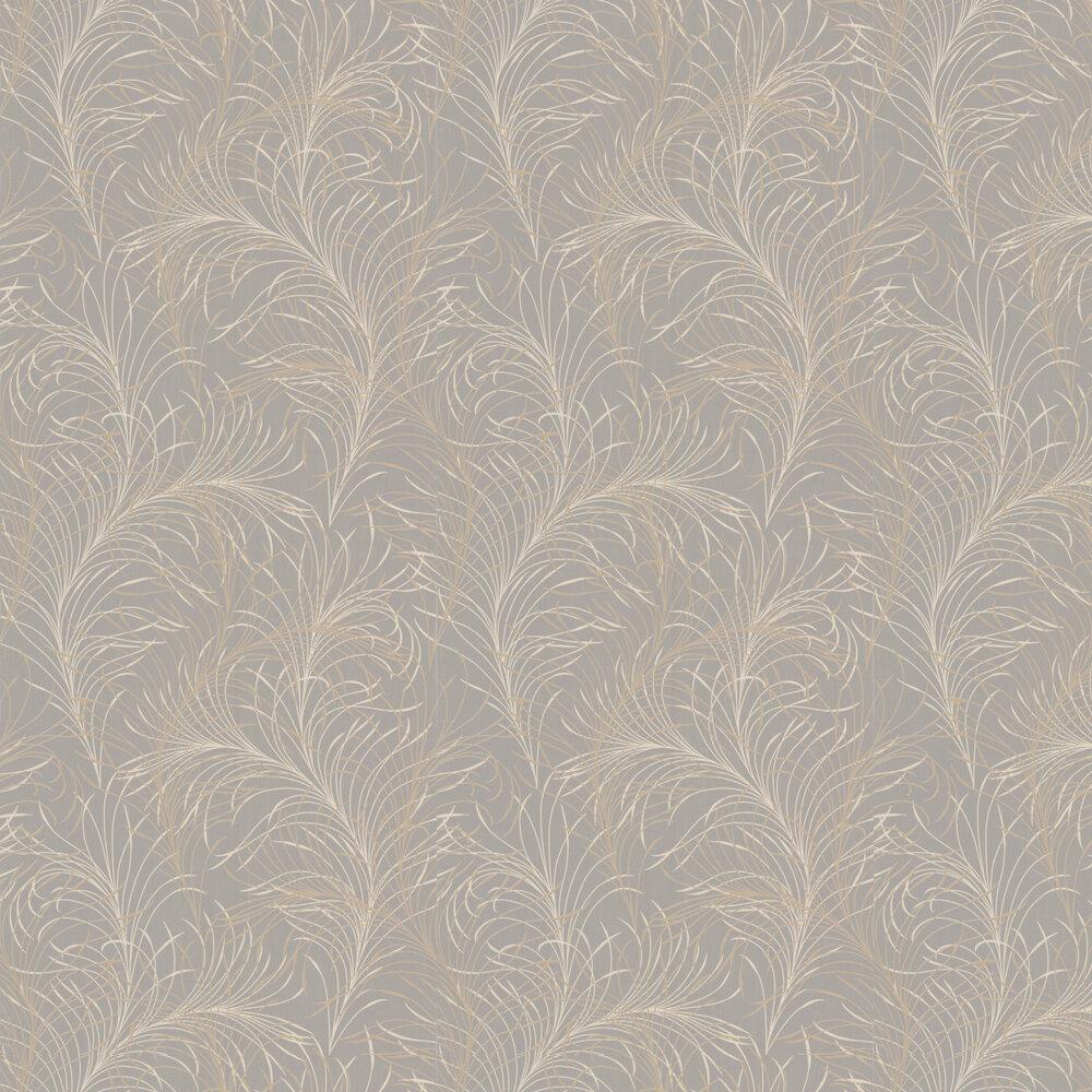 Swirl Wallpaper - Greige - by Galerie