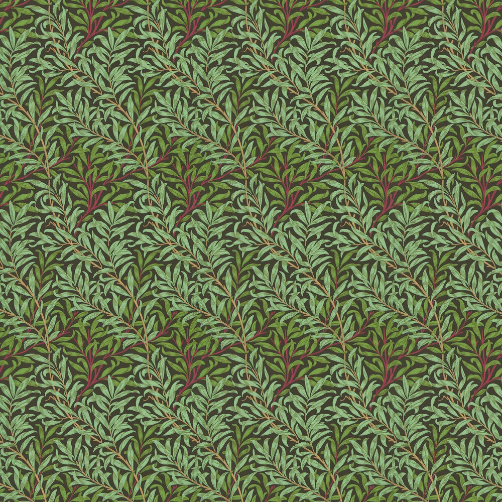 Willow Bough Wallpaper - Bitter Chocolate - by Morris