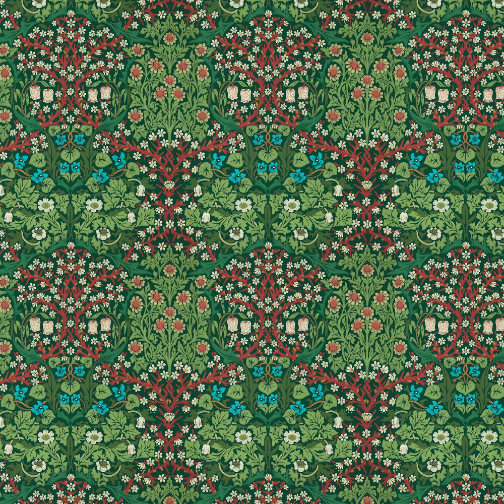 Blackthorn Wallpaper - Autumn - by Morris