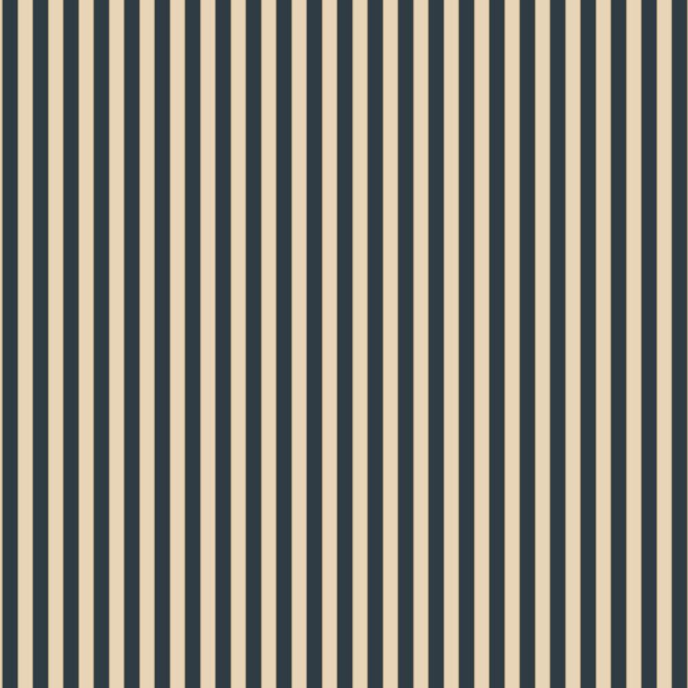 Formal Stripe Wallpaper - Navy / Cream / Gold  - by Galerie