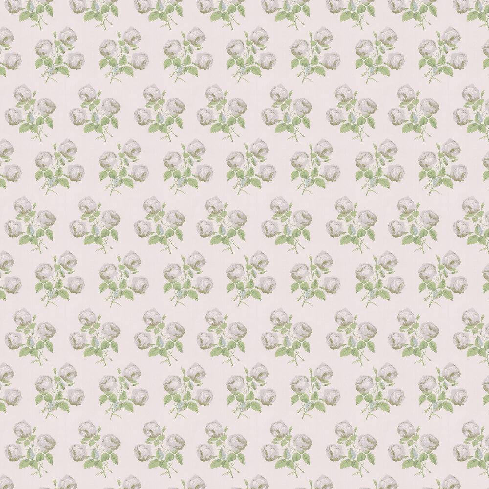 Bowood Wallpaper - Silver / Leaf - by Colefax and Fowler