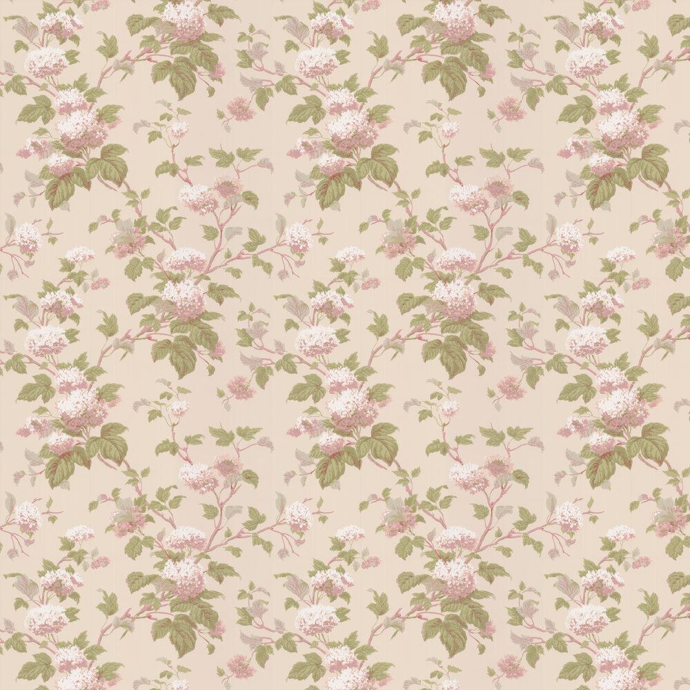 Chantilly Wallpaper - Pink / Green - by Colefax and Fowler