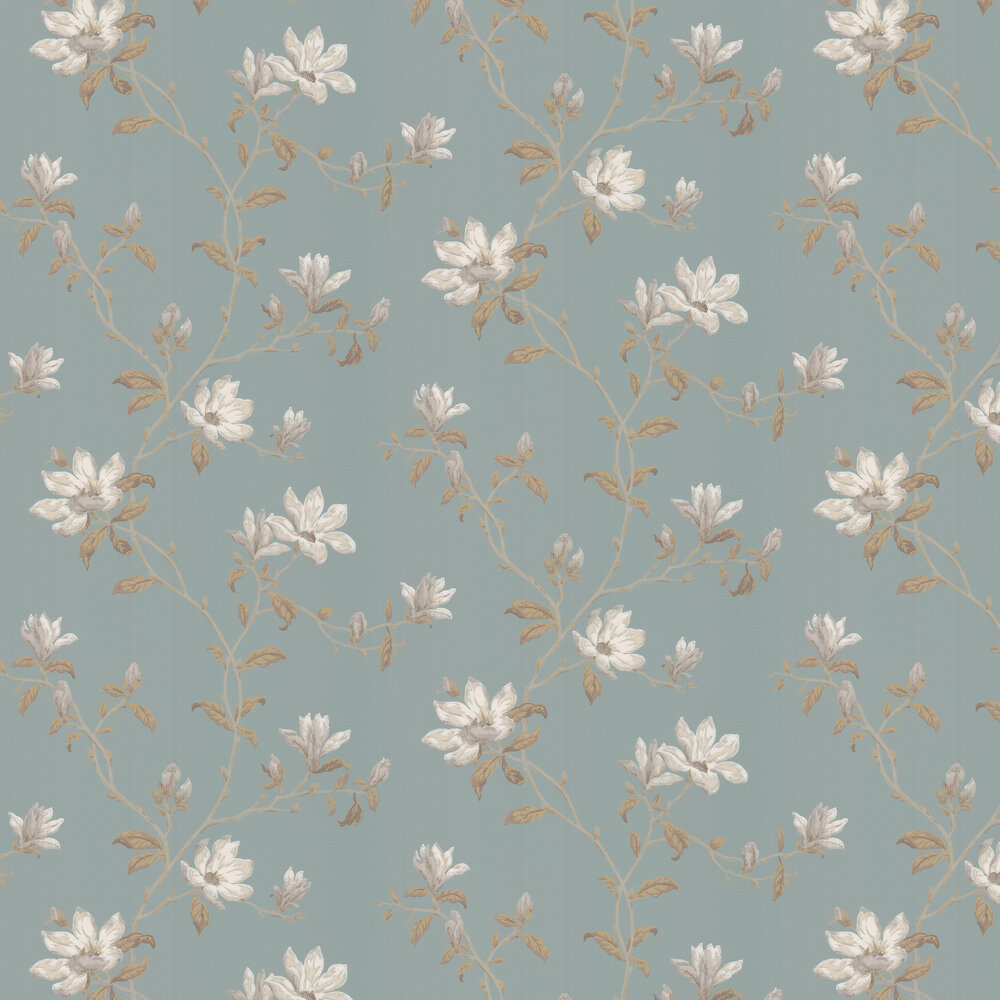 Marchwood Wallpaper - Old Blue - by Colefax and Fowler