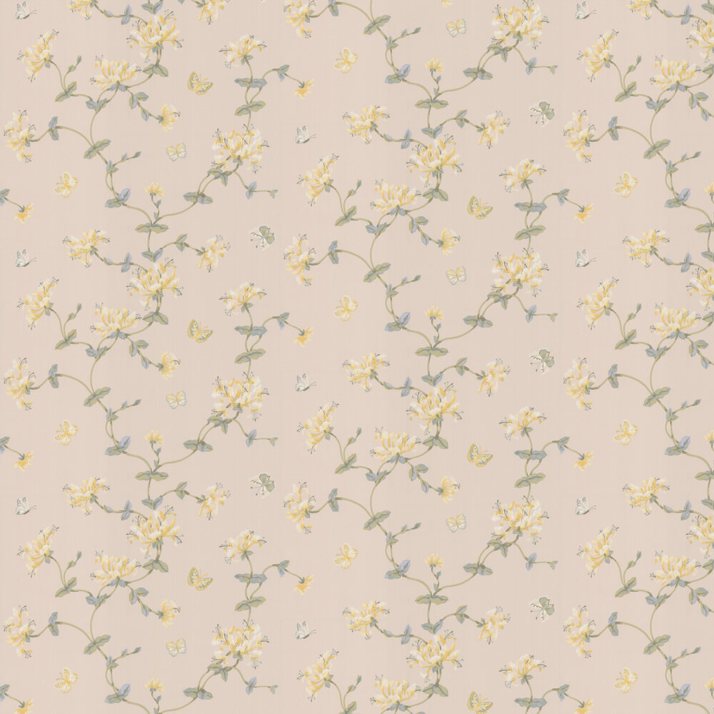 Honeysuckle Garden Wallpaper - Lime - by Colefax and Fowler