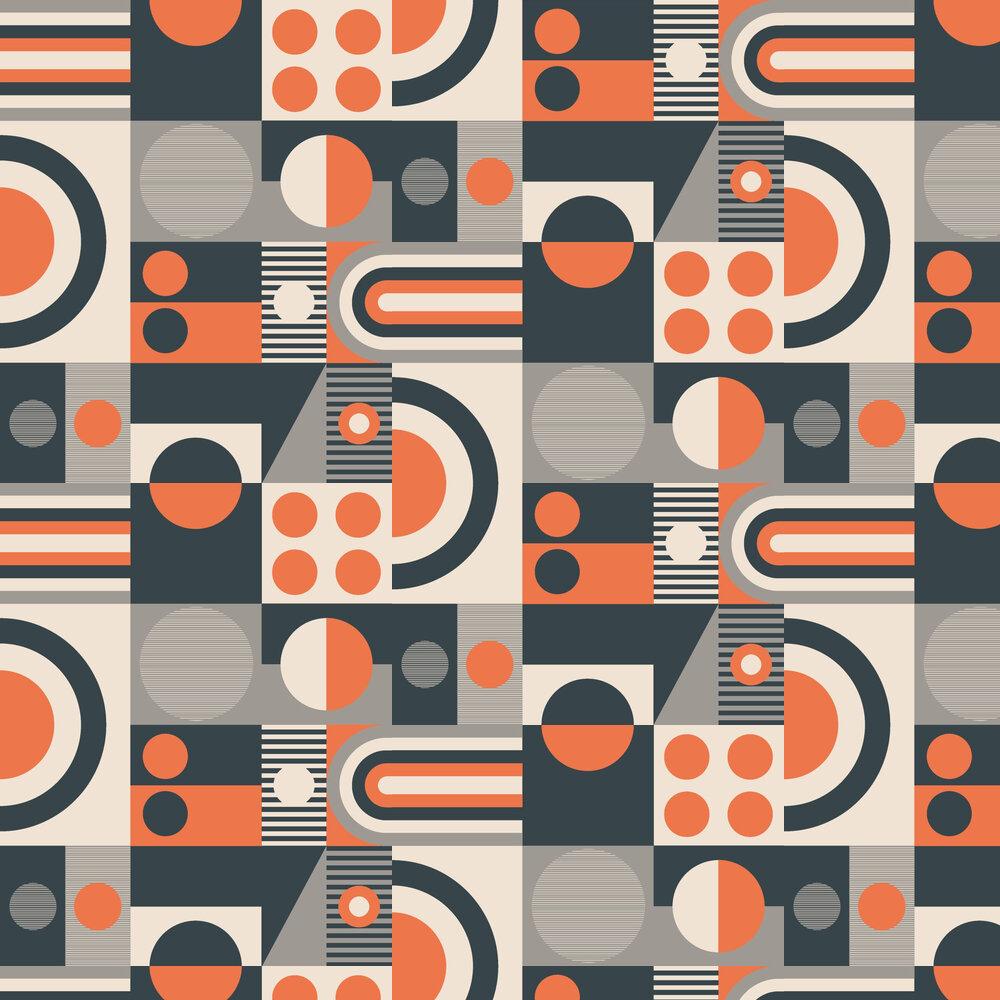 FAB! Wallpaper - Harvest Orange - by Mini Moderns