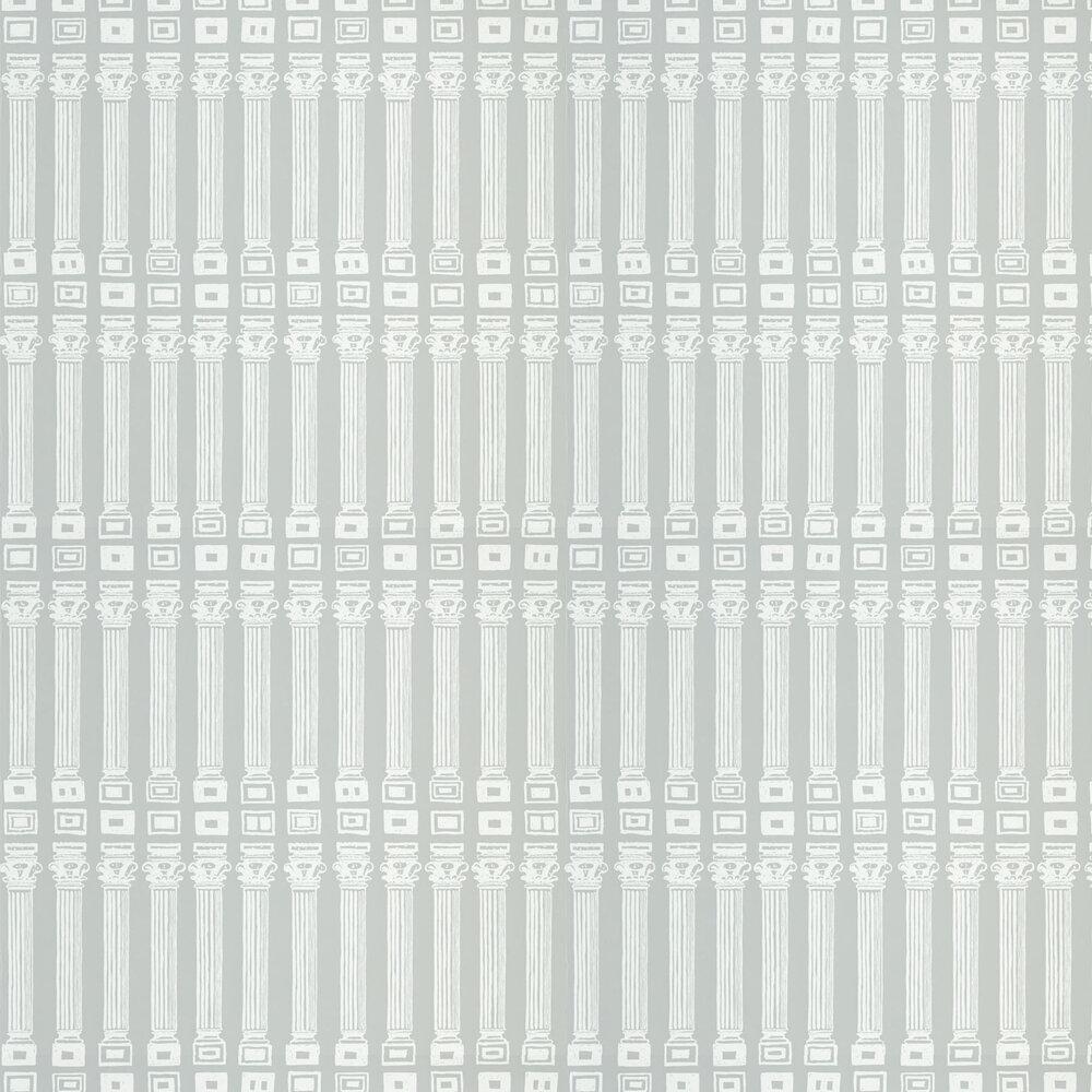 Columns Wallpaper - Empire Grey / Architects White - by Zoffany